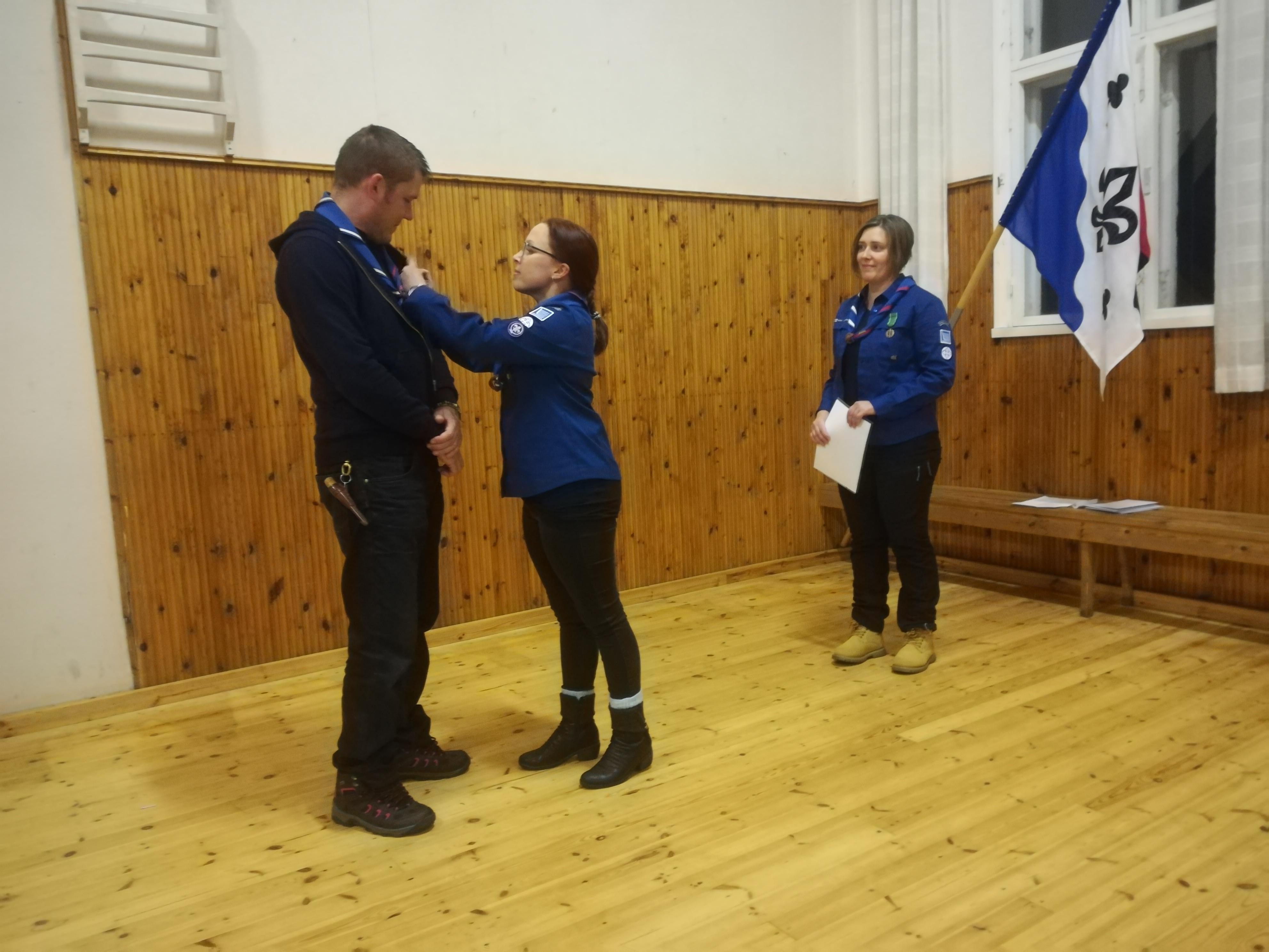 Mikko Ojalalle myönnettiin Suomen Partiolaisten pronssinen ansiomitali.